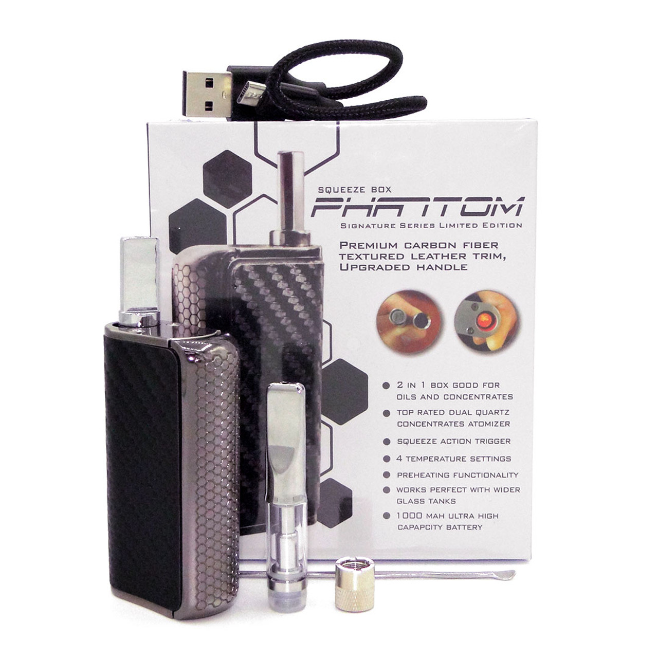 Phantom Signature 2 in 1 Oil & Wax Vaporizer Kit (Honey Stick)