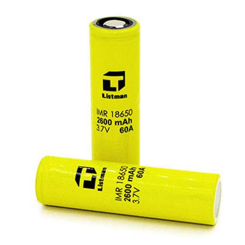 Listman 18650 2600mah 60A Battery Thumbnail Sized