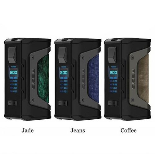 Geek Vape Aegis LEGEND MOD  Jade, Jeans, and Coffee Colors