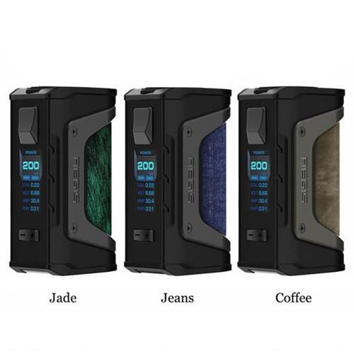 Geek Vape Aegis LEGEND MOD  Jade, Jeans, and Coffee Colors