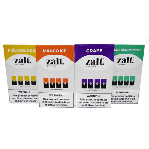Zalt Pod Refill (4 Pack) (Compatible with Universal Pod) Several Flavors