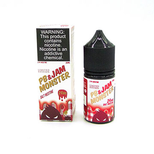 PB & Jam Strawberry by Jam Monster Salts (Limited Edition) (30ml) Thumbnail Sized