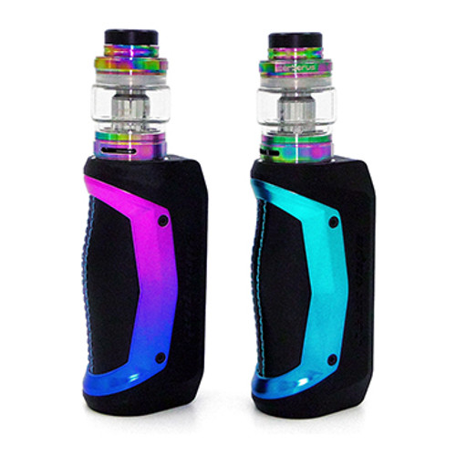Aegis Solo Kit by Geek Vape Red Blue, and Blue Geen Side View Thumbnail Sized