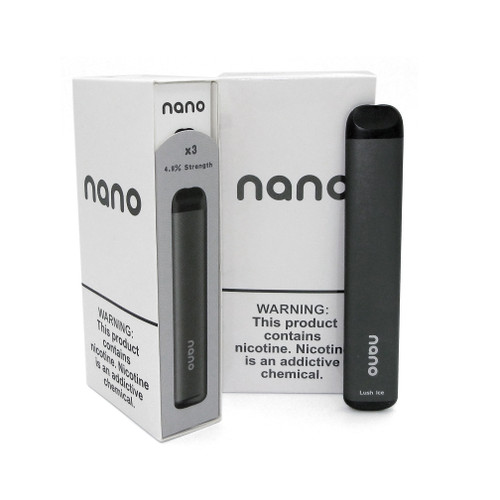 Nano Pre-filled Disposable Device (4.9% Nic) 3 Pack Package and Contents