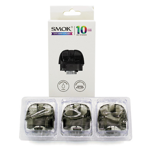 Pozz X Replacement Pods (No Coils) (3 Pack) (SMOK)  Package and Contents
