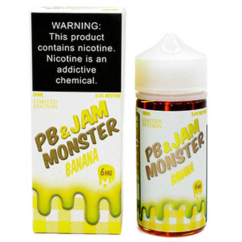 PB & Jam Banana (100ml) Jam Monster Thumbnail Sized