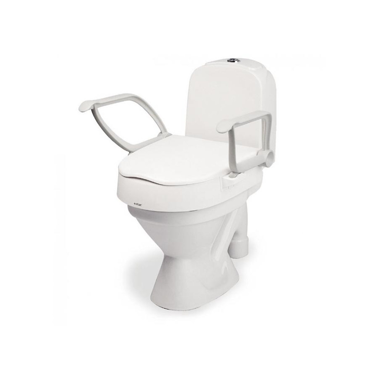 Toilet Seat Riser With Arms.Cloo Adjustable Toilet Seat Riser With Armrests By Etac