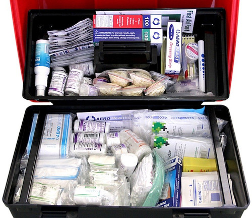 National Workplace First Aid Kit - Portable Lift Out Model 7L