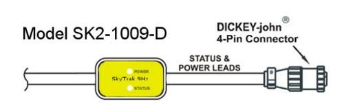 SkyTrak GPS Velocity 9Hz Speed Sensor, 4 Pin EY-john Connector   SK2-1009-D on