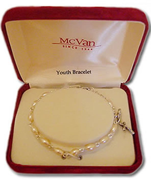 Oval Pearl Youth Rosary Bracelet