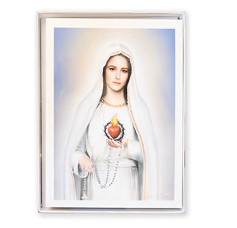 Our Lady of Fatima Blank Note Cards With Envelopes / 10