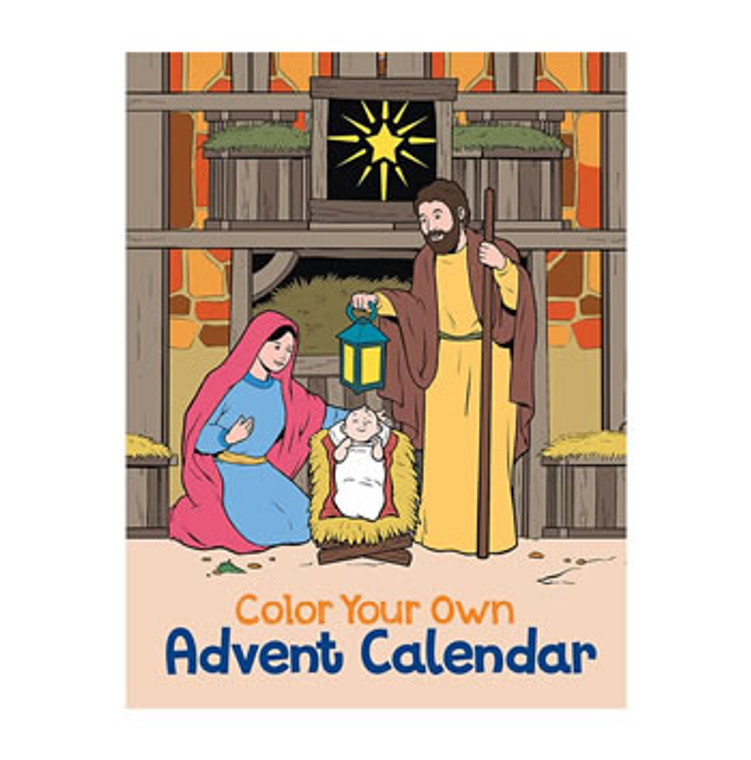 Color Your Own Advent Calendar