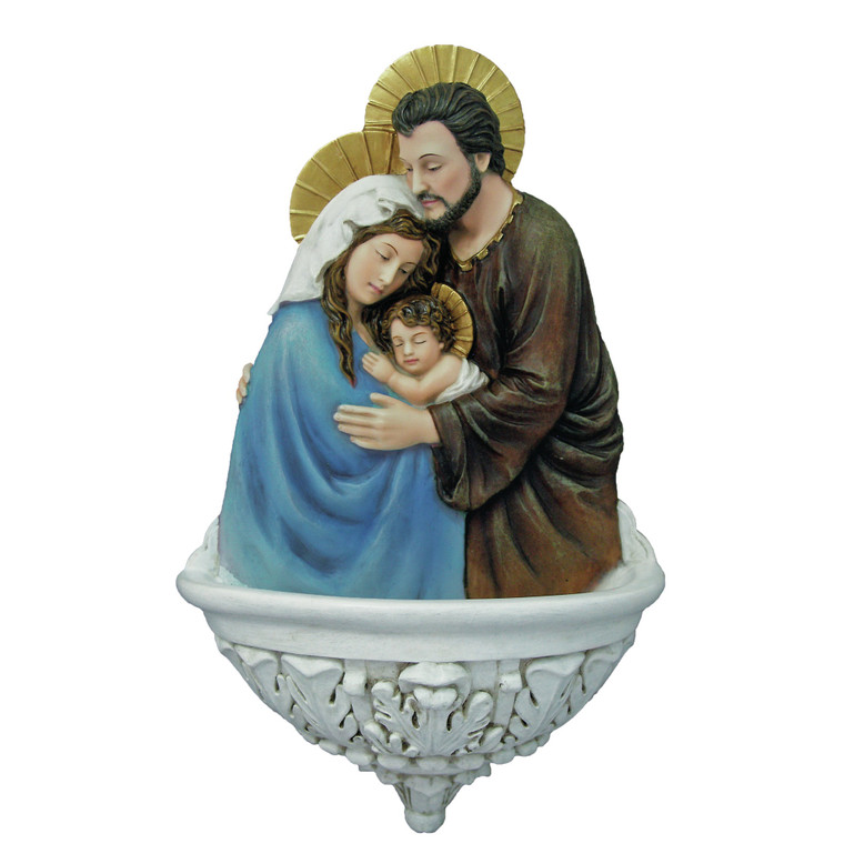 Holy Family Holy Water Font  (Full Color)