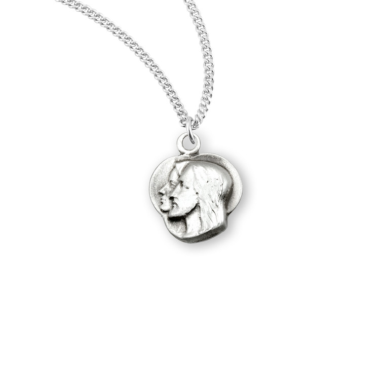 Jesus through Mary Sterling Silver Medal