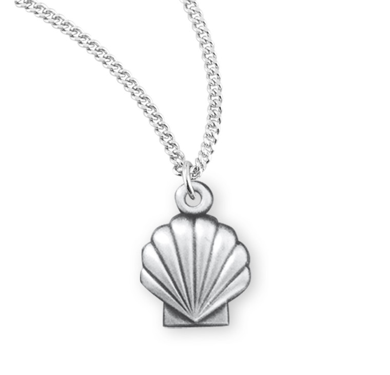 Holy Baptism Shell Sterling Silver Medal