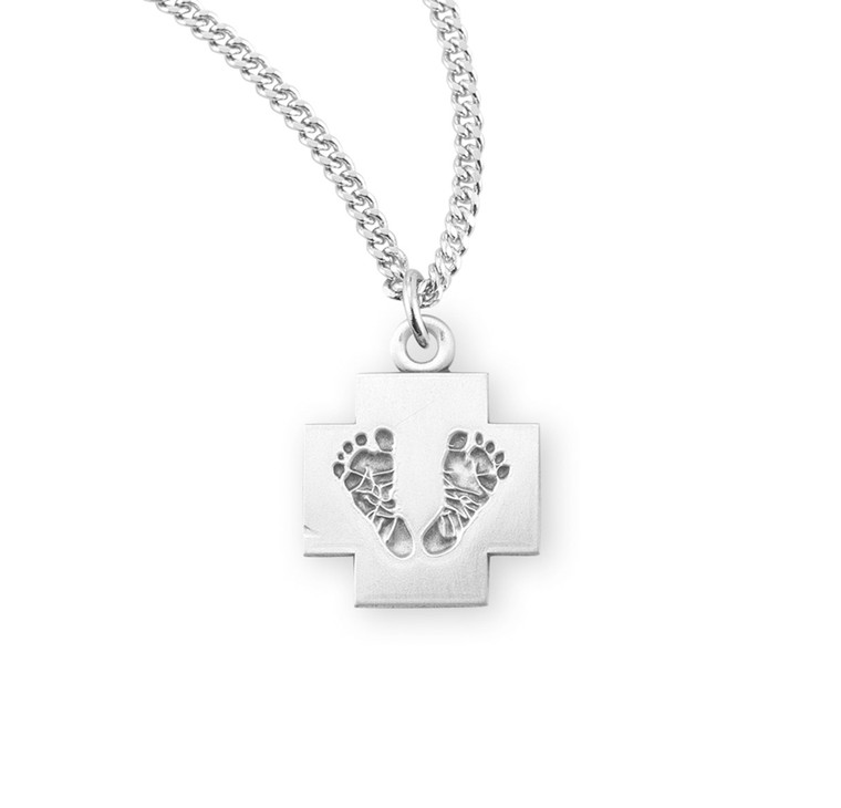 Sterling Silver Cross with Feet
