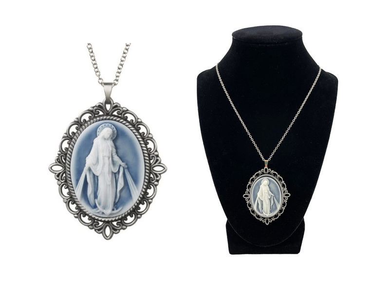 Our Lady of Grace Cameo Pendant