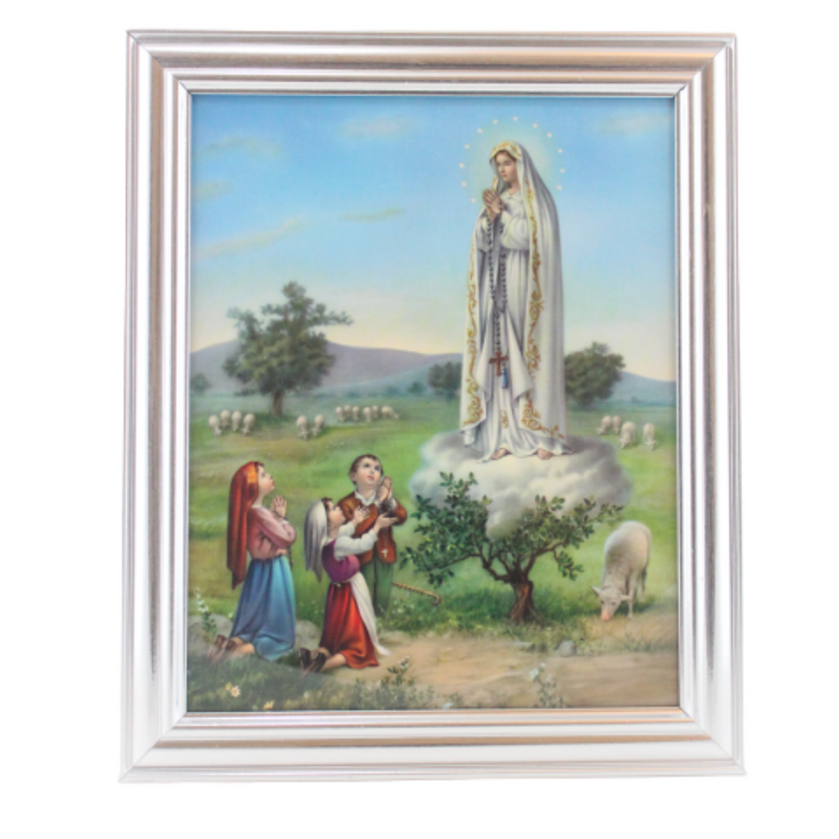 Our Lady of Fatima ~ Silver Frame