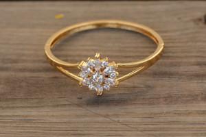 18K Gold White Flower Zircon AAA Designer Women Brass Bracelet