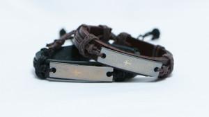 Christian Religious Jesus Spanish Prayer Genuine Leather Strap Unisex Bracelet