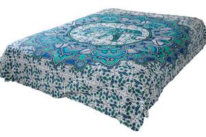 Hippie Blue Lotus Elephant Mandala Tapestry Bohemian Wall Hanging Decor