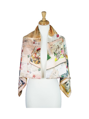 AamiraA Articles Mulberry Satin Silk Stole Women Square Scarf