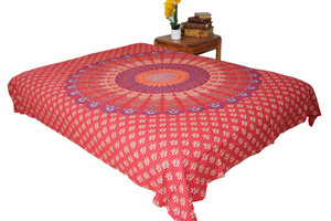 Hippie Red Mandala Tapestry Bohemian Wall Hanging Throw Dorm Decor