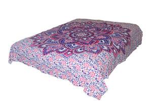 Hippie Bright Lotus Mandala Tapestry Bohemian Wall Hanging Throw Dorm Décor
