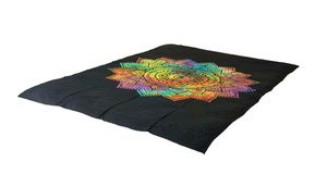 Bright Tie-Dye Lotus Mandala Tapestry Bohemian Wall Hanging Throw Decor