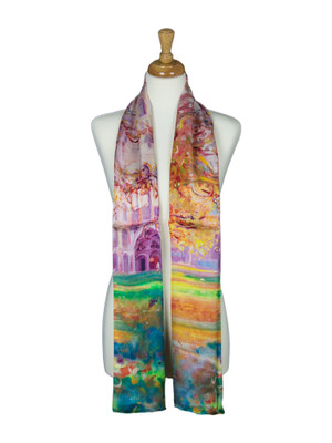 AamiraA Palace in Spring Soft Mulberry Satin Silk Stole Women Long Scarf