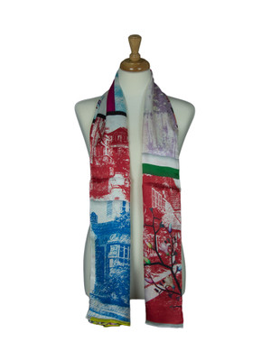 AamiraA Paris Restaurants Soft Mulberry Satin Silk Stole Women Long Scarf