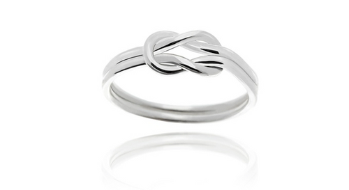 925 Sterling Silver Love Knot Women Wedding Ring