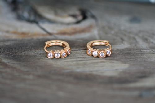 18K Gold White Zircon AAA Designer Brass Earrings