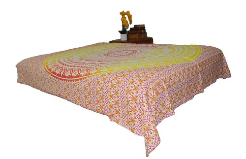 Hippie Yellow Red Mandala Tapestry Bohemia Wall Hanging Throw Dorm Decor