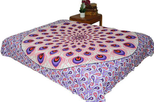 Hippie Red Purple Mandala Tapestry Bohemian Wall Hanging Throw Dorm Decor