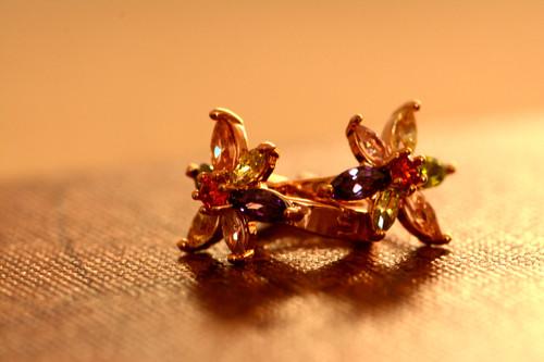 18K Gold Daisy Zircon AAA Designer Brass Earrings