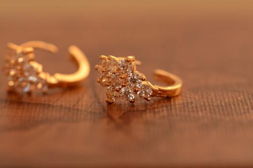 18K Gold Glazing Zircon AAA Designer Brass Earrings