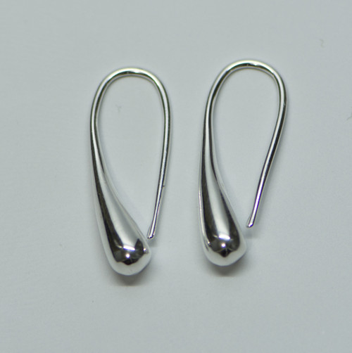 925 Sterling Silver Plated Waterdrop Earrings