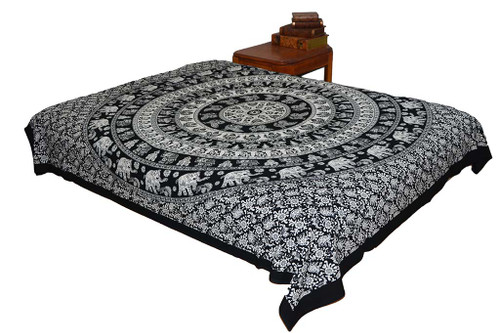 Hippie Black White Mandala Tapestry Bohemian Wall Hanging Throw Dorm Decor