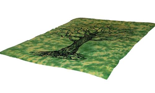 Tie-Dye Tree of Life Mandala Tapestry Bohemian Wall Hanging Throw Dorm Decor