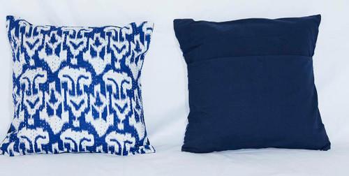 Handmade Blue Kantha Threaded Pillow Cushion Covers