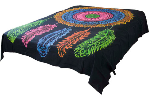 Hippie Black Dream Catcher Mandala Tapestry Wall Hanging Throw Dorm Decor
