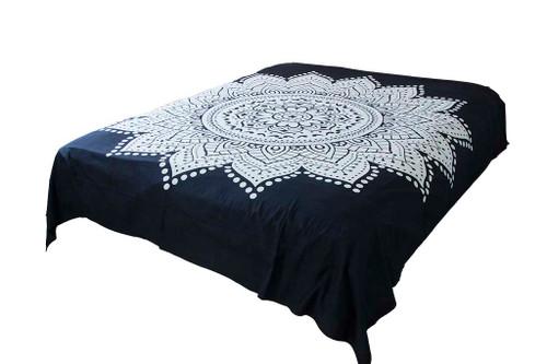 Hippie White Lotus Mandala Tapestry Bohemian Wall Hanging Throw Dorm Decor
