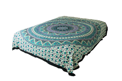 Hippie Blue Mandala Tapestry Bohemian Wall Hanging Throw Dorm Decor