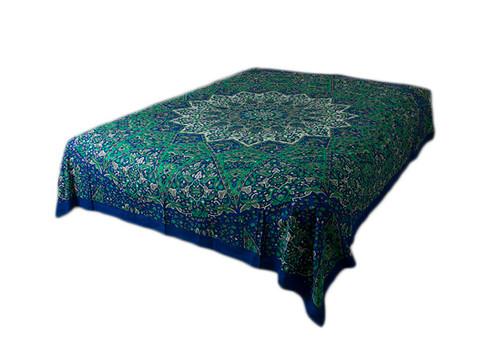 Hippie Blue Green Star Mandala Tapestry Bohemian Wall Hanging Throw Dorm