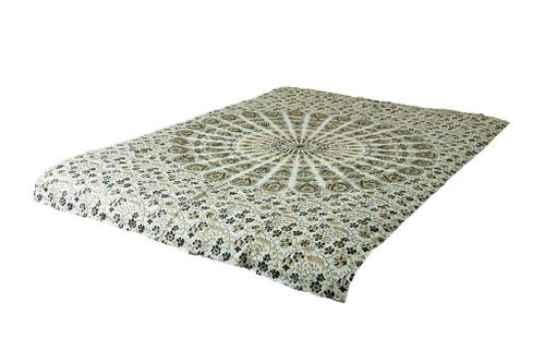 White Black Gold Mandala Tapestry Bohemian Wall Hanging Throw Dorm Decor