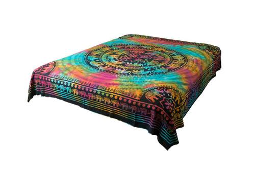 Hippie Tie-Dye Elephant Mandala Tapestry Bohemian Wall Hanging Dorm