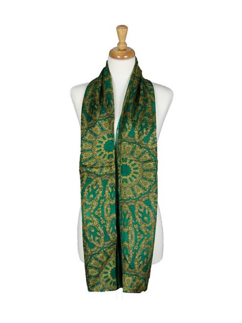 AamiraA Emerald Green Spring Mulberry Chiffon Silk Stole Women Scarf