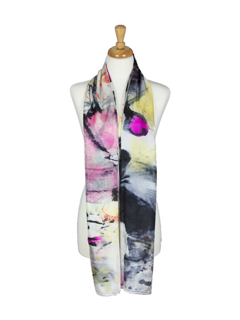 AamiraA Designer Mulberry Chiffon Silk Stole Women Oblong Scarf