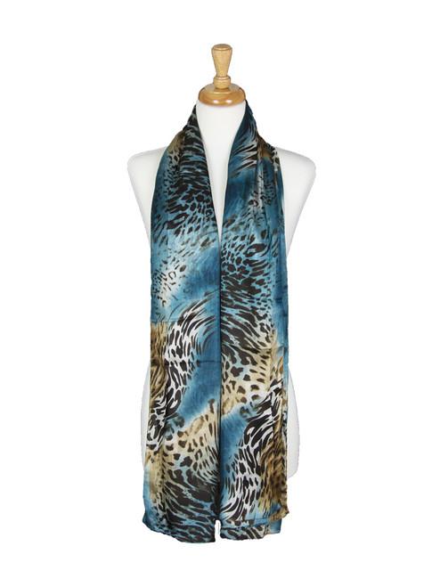 AamiraA Tiger Mulberry Chiffon Silk Stole Women Oblong Scarf